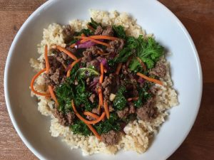 ground beef kale stir fry