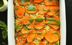 tray of sweet potato lasagna