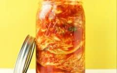 jar of vegan kimchi